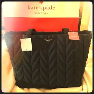 Kate Spade-Tech Tote NightCape Quilted NWT